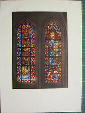 FRENCH CATHEDRAL STAINED GLASS WINDOW PRINT PROPHETS AMOS & NAHUM BOURGES CHOIR