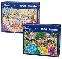 Set Of Two (2) 1000 Piece Disney Jigsaw Puzzles - FIREWORKS & BIRTHDAY PARTY