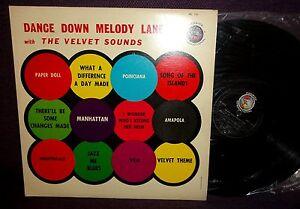 THE VELVET SOUNDS Dance Down Melody Lane LP 1960S Pickwick PR 121 RARE EASY