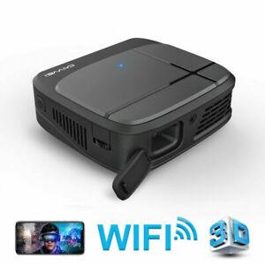 CAIWEI Tragbar Mini 3300 Lumen DLP 1080p Heimkino Projektor 3D HD WIFI HDMI USB