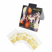 1 Pack Silver Color Violin String 4/4 E Ball End AV17 Set A,D,G for Beginner