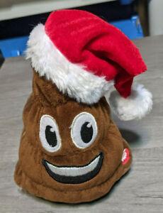 "7.5"" Farting Plush Christmas Poop Emoji Toy Decoration Santa Holiday"