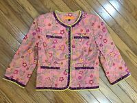 Cynthia Steffe Beautiful Embroidered Button Down Jacket Size 6