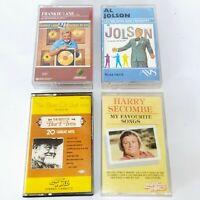 Cassette Tapes - Frankie Lane / Al Jolson / Burt Ives / Harry Secombe