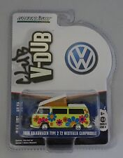 GREENLIGHT 1:64 1968 VOLKSWAGEN TYPE 2 T2 WESTFALIA CAMPMOBILE V-DUB CLUB