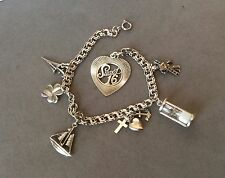 Beautiful Sterling Silver Charm Bracelet with 7 Charms