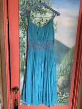 New listing Sky Blue 50's Dress Spagetti Straps Sequined Empire Waist Sz 4