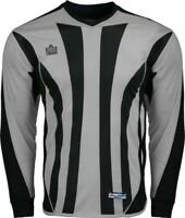 Admiral Bayern ADULT Padded Elbow Soccer Goalie Jersey, Silver / Black