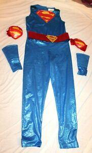 Rubie's DC Super Hero Girls Supergirl Halloween Costume Metallic Bodysuit Medium