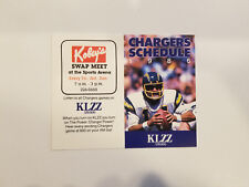 San Diego Chargers 1986 NFL Football Pocket Schedule - Kobey's/KLZZ