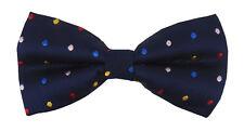 nœud papillon pour hommes bleu à points multicolore par Ella Jonte avec NEUF