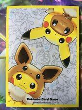 Sleeve Pikachu Evoli Eevee Eievui protege carte Pokémon Center deck shield card