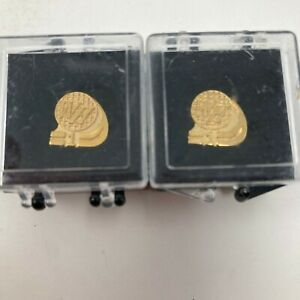 New (2) Waffle House 1 Year Employee Anniversary Award Pin w/ Case Collectible