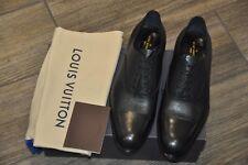 Authentic New Louis Vuitton Wogram Black Calf Leather Cap Toe Shoes,LV10/US11