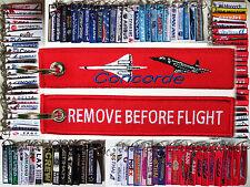 Keyring Aerospatiale BAC Concorde 101 102 Supersonic Travel Remove Before Flight