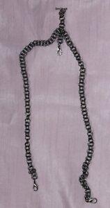 Handmade Black Chain Mail Double Albert Watch Chain. Hippy boho Steampunk pagan
