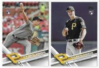 2017 Topps Tyler Glasnow Rookie Photo Variation Sp & Base Rookie Lot No. 349