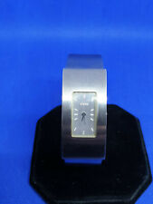 ladies storm chrome bracelet watch,silver face & hands,brushed steel finish.#b1.