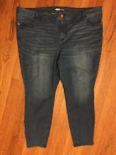 Old Navy Ladies Super Skinny Jeans Plus Short Size 26S. Blue Denim Stretch