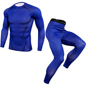 Men's Quick Dry set Clothes Sport Running MMA jogging Gym Fitness Tracksuit Suit