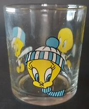 bicchiere NUTELLA glass 1991 WARNER BROS SPORT Titti Tweety Looney Tunes