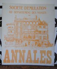 █ Annales 1989 de la Société d'émulation des VOSGES █
