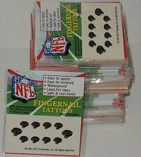 100 Packs of JACKSONVILLE JAGUARS NFL FINGERNAIL TATTOOS Wholesale Lot Nail Girl