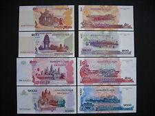 CAMBODIA  50 + 100 + 500 + 1000 Riels  2001 - 2007  UNC
