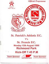 Aug 96 ST PATRICK'S ATHLETIC v ST FRANCIS