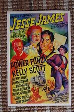 Jesse James Lobby Card Movie Poster Western Henry Fonda Randolph Scott