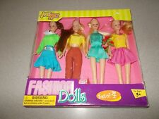 K Mart Just Kidz four piece set Girl's fashion play dolls new ages 3 up