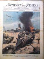 La Domenica del Corriere 1 Novembre 1942 WW2 Battaglia Egitto Atlantico Scienza