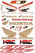 1 SHEET NEW HONDA HRC CAR MOTOCROSS ATV ENDURO BIKE RACING DECAL STICKER SK171