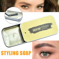 3D Feathery Brows Makeup Gel Waterproof Soap Long Lasting Kit Eyebrow + Brush UK