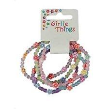 Set of 5 Frosted Flower Bracelets