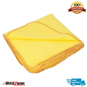 Pack of 1/5/10 Yellow Duster Cleaning Cloths Microfiber Soft Towel Lint Free