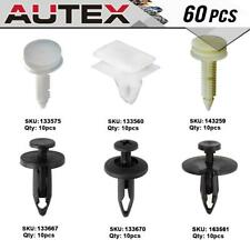 60x Clip Shield Fender Retainer Rivet Assortment Kit for 2003-2007 Cadillac CTS