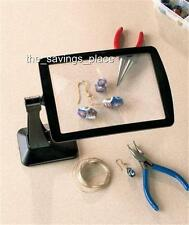 FREESTANDING POWERFUL MAGNIFYING SCREEN 3X MAGNIFIER SWIVELS 360 DEGREES-HANDY!!