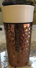 Starbucks Ceramic & Stainless Hammered Tumbler Rose/Gold Copper 12oz NWT VHTF