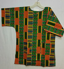 Men Clothing African Kente Print Dashiki Top African Ethnic Shirt Pr#23 S M L XL