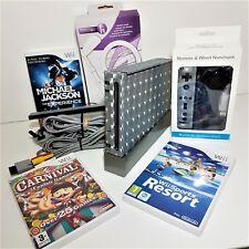 Black Nintendo Wii Console Sport resort bundle with motion plus remote +games