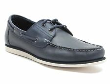 Red Tape Helford Navy Blue Leather Mens Boat Shoes