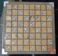 "Beautiful Egyptian Handmade Mother of Pearl Inlaid Chess Backgammon 12"" Board 85"