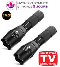 2 Lampe torche tactique,1600 lm Ultra Lumineux LED 5 modes d'éclairage d'urgence
