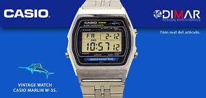 VINTAGE WATCH CASIO W-35 MARLIN. QW248 JAPAN. WR.50m. AÑO.1980