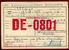 CARD  CARTE  QSL  radio amateur   ALLEMAGNE    1928  ( 351 )