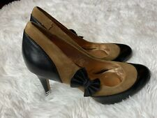 Anthropologie Miss Albright Darra Pump Size 7 M Shoes Brown Bow Classic