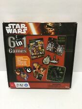 Star Wars The Force Awakens 6 in 1 Games Dominoes Bingo Battle Matching NEW