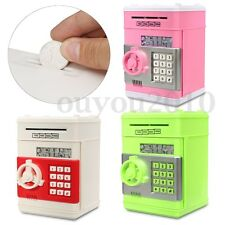 Mini Piggy Bank Electronic Password ATM Money Box Safety Machine Kids Childrens