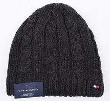TOMMY HILFIGER Warm Beanie Hat, Fleece Lined, Grey, One Size - Adult